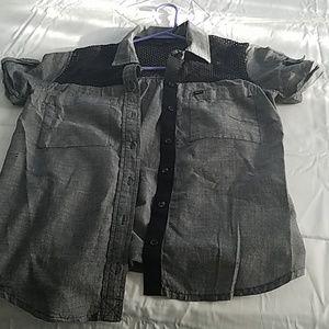 Gray medium Hurley blouse